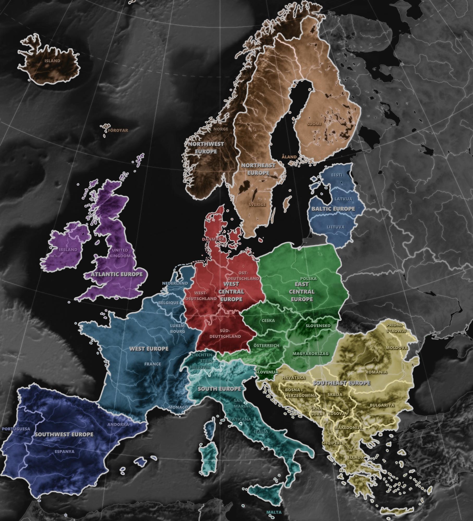 Neuordnung Europas, Europas Bundesstaaten, Gliederung Europas, Mitteleuropa, Zentraleuropa, West Zentraleuropa, west central europe, Europa, Neuordnung, Regionen, Bundesstaaten, Bundesländer, middle europe, central europe, europe, regions, deutsch dänische vereinigung, ost mitteleuropa, süd mitteleuropa, west mitteleuropa, Europäische Union